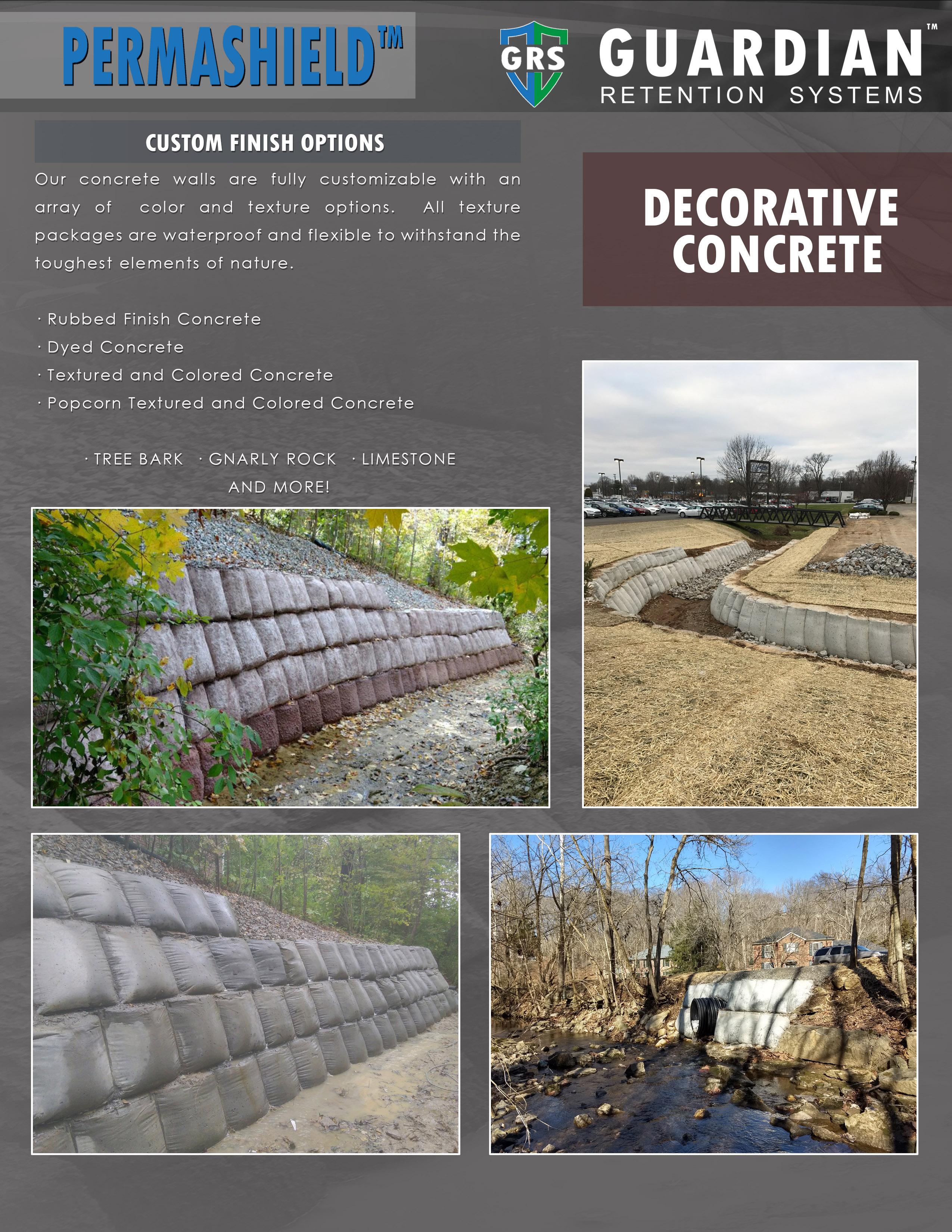 PermaShield™ custom concrete retaining wall